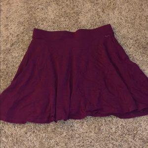 Dark purple mini skirt